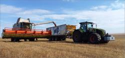 CLAAS TUCANO: Опыт уборки масличного льна
