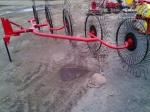 Грабли-ворошилки навесные дисковые, односторонние 3.3 метра, 5-ти колесные производства Турция