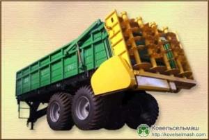 Машина для разбрасывания твердых органических удобрений РТД-14\РТД-9\РТД-5