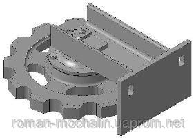 Устройство поворотное горизонтального транспортера к транспортеру ТСН-3Б