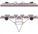Каток кольчато-шпоровый складывающийся ККШС-24-2