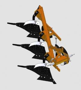 Плуг 3-х корпусный модульный универсальный навесной (с левосторонним и правосторонними корпусами)