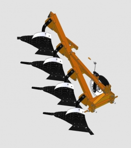 Плуг 4-х корпусный модульный универсальный навесной (с левосторонним и правосторонними корпусами)