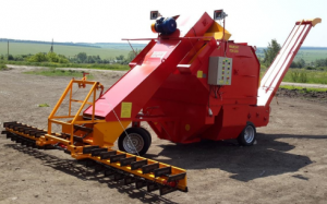 Самопередвижная установка зерноочистки