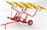 Грабли навесные колесно-пальцевые ГКП-6 Горицвет