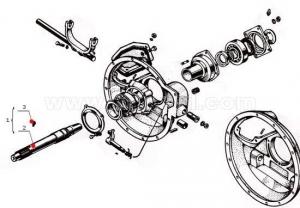 14А .2103-1 Вал сцепления СМД-14