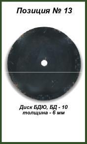 Диск БДЮ, БД — 10 (6 мм)