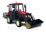 Трактор МТЗ Беларус 320 с фронтальным погрузчиком и щеткой