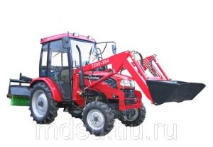 Трактор Foton TE 254 с фронтальным погрузчиком и щеткой