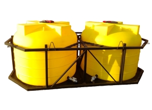 Комплект химических ёмкостей в кассете ХимЁм 4500х2, 5000х2 под кузов  КАМАЗ