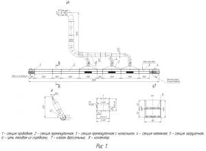 Конвейер-охладитель скребковый КОС