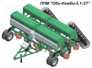 Почвообрабатывающие посевные машины Обь-Комби-5,1-ЗТ с дисково-анкерными сошниками