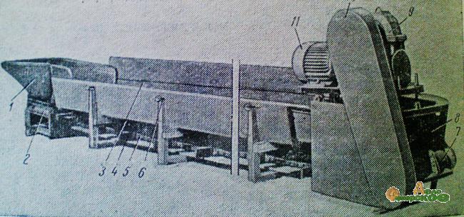 Транспортер раздатчик твк 80б мобильный шнековый транспортер